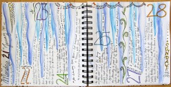 icicle art journal page