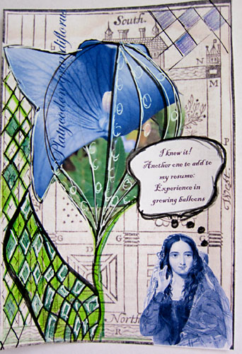 Mail Art - Balloon Flower
