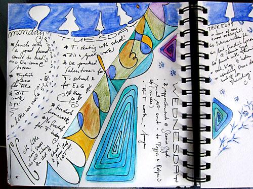 Art Journal - Tracks in the Snow