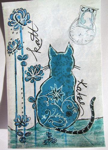 Cat and Ampersand flowers (spelling English 'cat', Swedish 'katt' and German 'Katze'