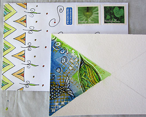 card & envelope - mail art 'create & pass'