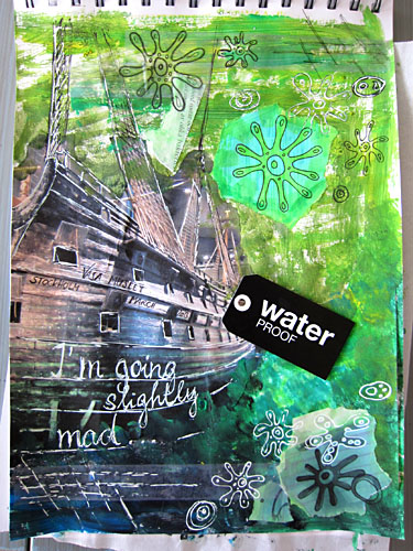 art journal page - Vasa Museum