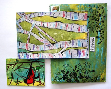 Mail art from Denise.