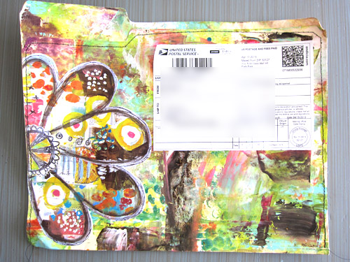 From Roben-Marie... file folder mail art. Love it!