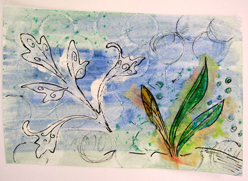still available: 'Spring greets Winter' (you may have noticed, I can't decide about the name...)