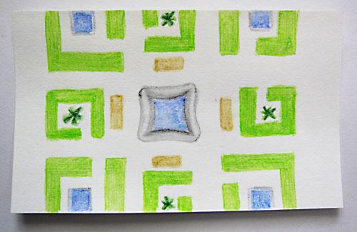 garden layout labyrint